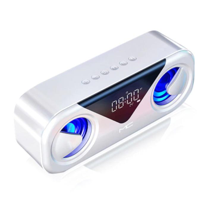 Soundbox Bluetooth 5.0 avec radio FM - Haut-parleur sans fil Haut-parleur externe sans fil Blanc