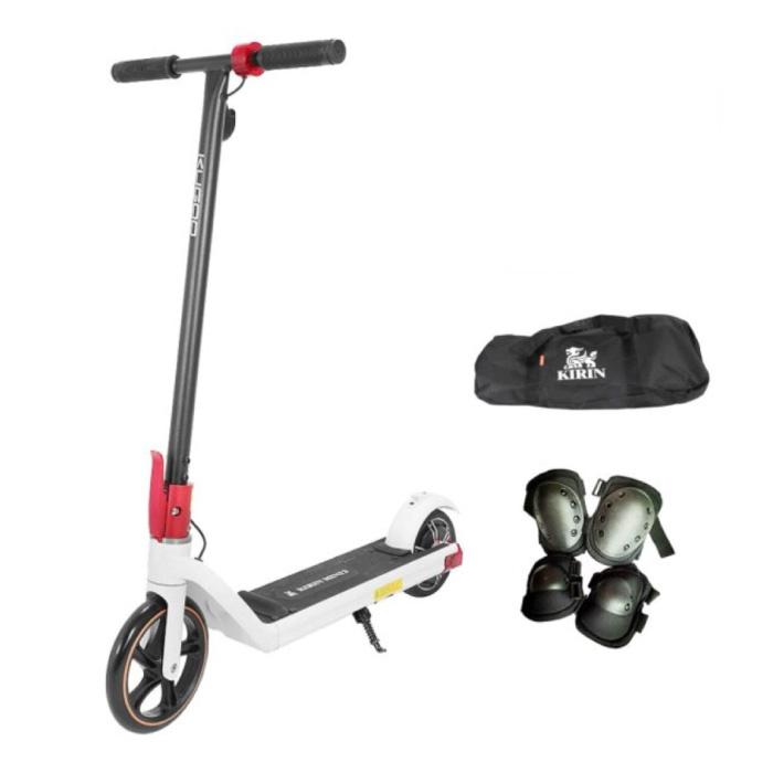 Kirin Mini 2 Scooter électrique Smart E Step pour enfants tout-terrain - 150W - 15 km / h - Batterie 6Ah - Roues 8,5 pouces Blanc