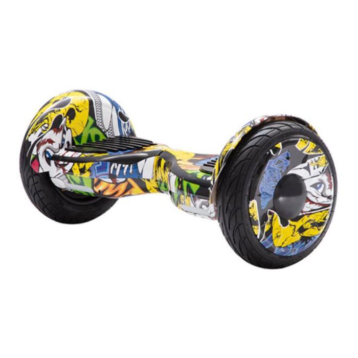 "Electric E-Scooter Hoverboard - 10 ""- 350W - 2000mAh Battery - Smart Balance Board Graffitti"