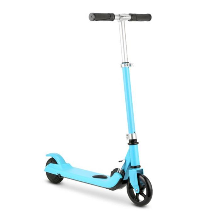 Scooter électrique Smart E Step pour enfants tout-terrain - 100W - 8 km / h - Batterie 2Ah - Roues 5,5 pouces Bleu