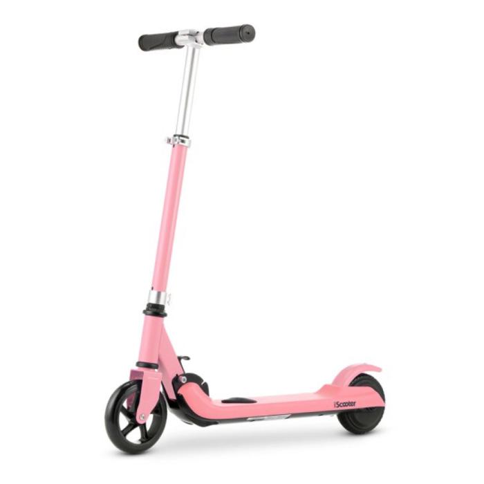 Scooter électrique Smart E Step pour enfants tout-terrain - 100W - 8 km / h - Batterie 2Ah - Roues 5,5 pouces Rose