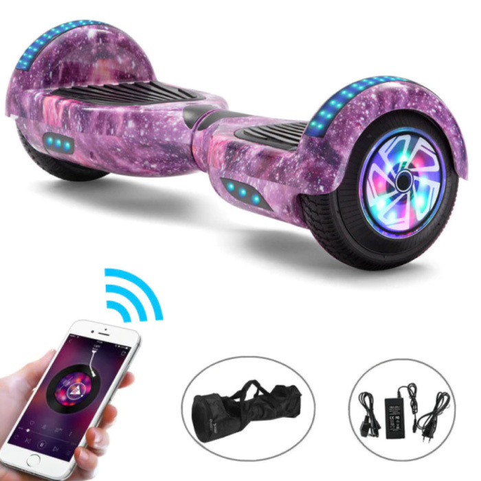 """Electric E-Scooter Hoverboard with Bluetooth Speaker - 6.5 """"- 500W - 2000mAh Battery - Smart Balance Board Space"""