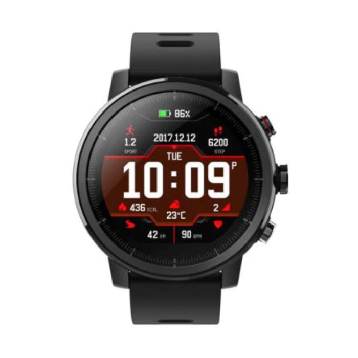 Stratos Smartwatch -  Fitness Sport Activity Tracker Silica Gel Horloge iOS Android Zwart