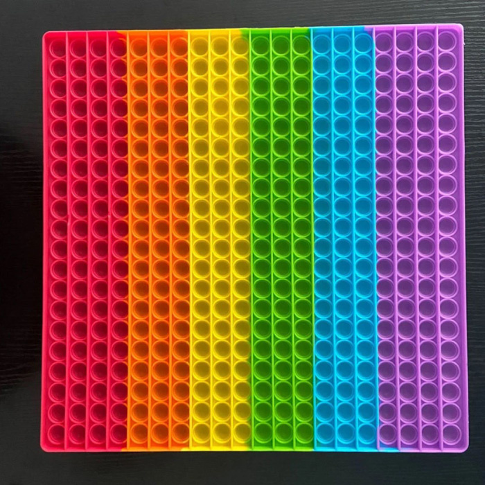 XXL Pop It - 300mm Extra Extra Large Fidget Anti Stress Toy Bubble Toy Silicone Square Rainbow