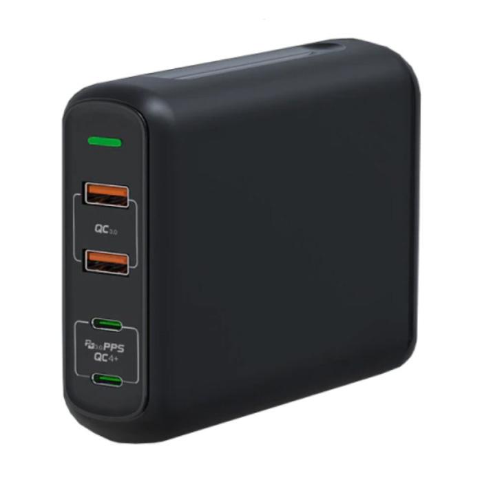 Station de charge à 4 ports - PPS / QC3.0 - Chargeur USB 150W Chargeur mural Chargeur mural Adaptateur de chargeur secteur noir