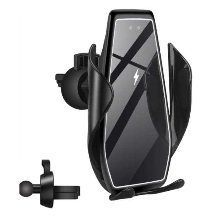 Chargeur de voiture sans fil Qi 15W - Charge rapide 3.0 - Chargeur de clip Airvent Chargeur universel pour voiture sans fil Noir