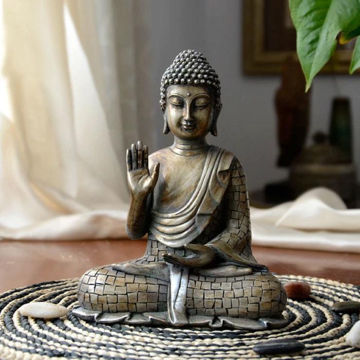 Statue de Bouddha Tathagatha - Bureau de jardin de sculpture en résine d'ornement de décor