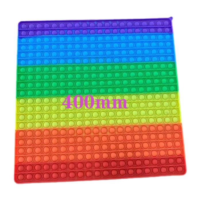 XXXL Pop It - 400mm Extra Extra Large Fidget Anti Stress Toy Bubble Toy Silicone Square Rainbow