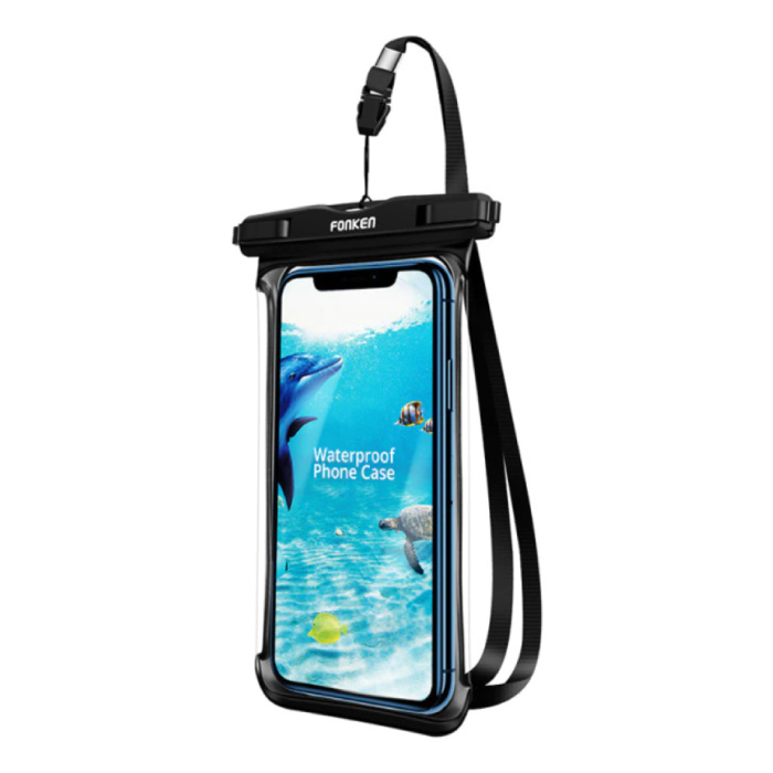 Waterdicht Hoesje voor iPhone / Samsung / Xiaomi - Sport Tasje Zakje Cover Case Armband Jogging Hard Lopen Zwart