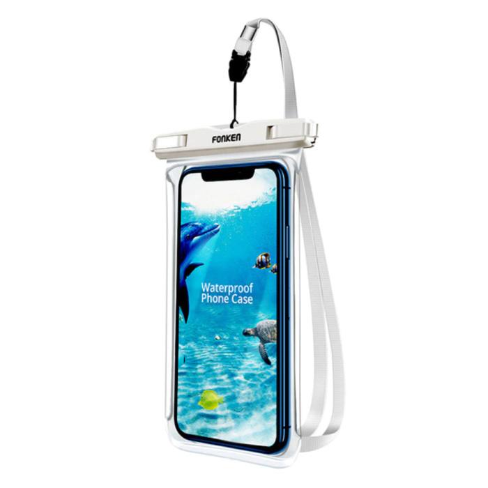 Waterdicht Hoesje voor iPhone / Samsung / Xiaomi - Sport Tasje Zakje Cover Case Armband Jogging Hard Lopen Wit