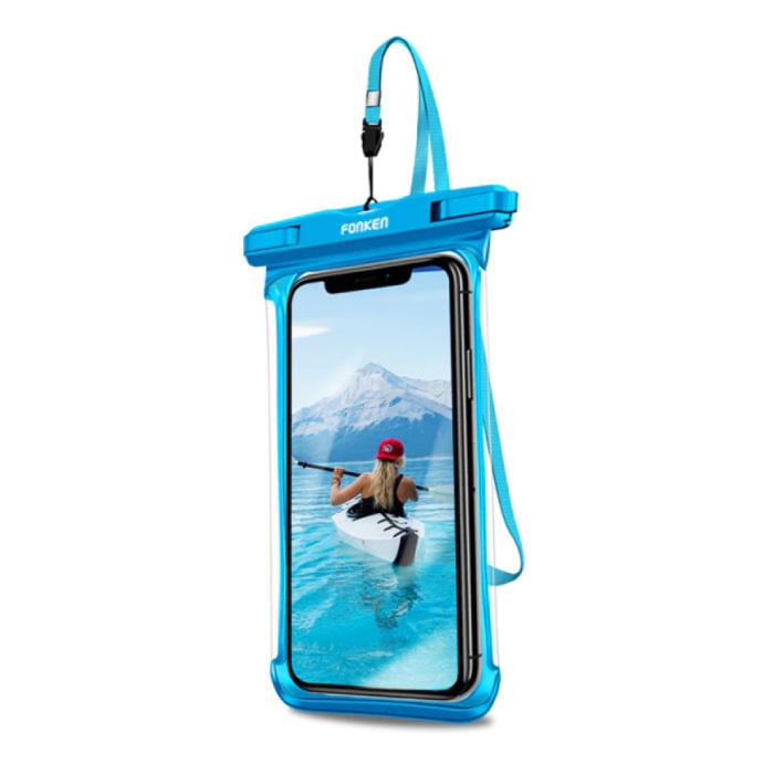 Étui étanche pour iPhone / Samsung / Xiaomi - Housse de protection pour pochette de sport Brassard Jogging Running Hard Blue