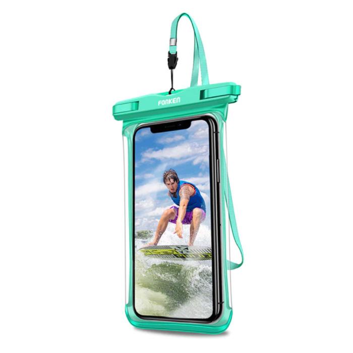 Waterdicht Hoesje voor iPhone / Samsung / Xiaomi - Sport Tasje Zakje Cover Case Armband Jogging Hard Lopen Groen