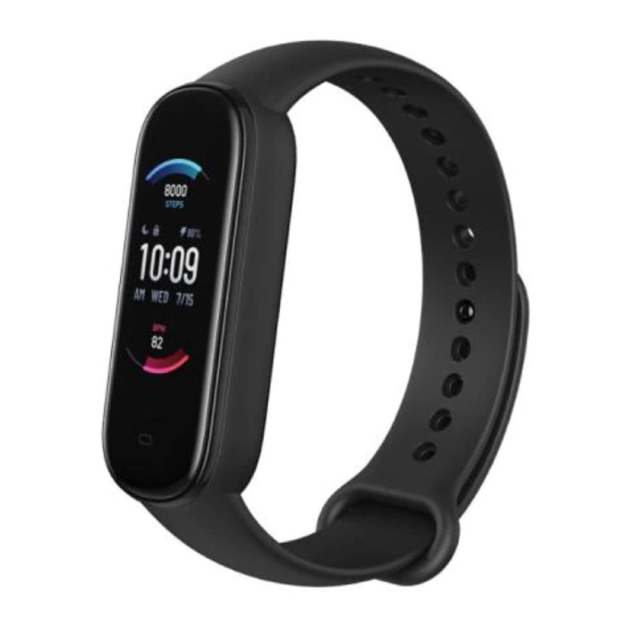 Band 5 Smartwatch -  Fitness Sport Activity Tracker Silica Gel Horloge Band iOS Android Zwart