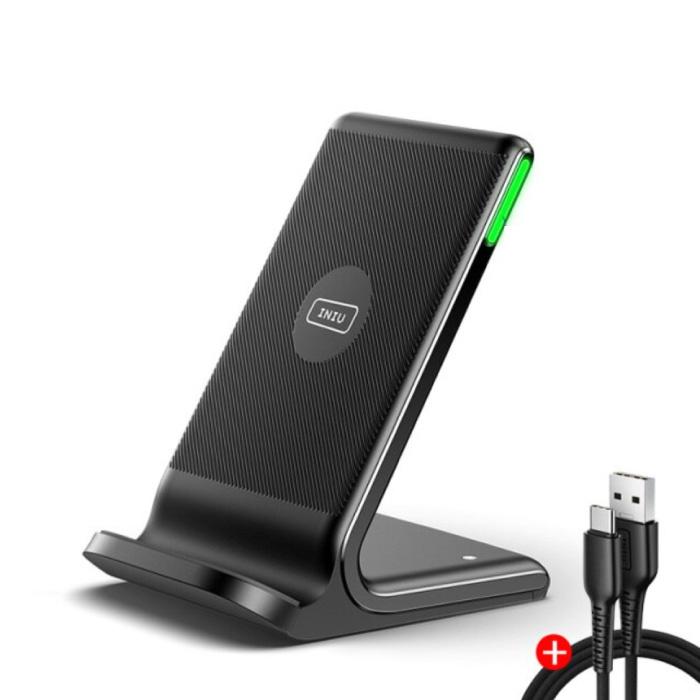 Station de charge 3 en 1 avec câble de charge - Compatible avec Apple iPhone / iWatch / AirPods - Station de charge 15W Pad sans fil Noir