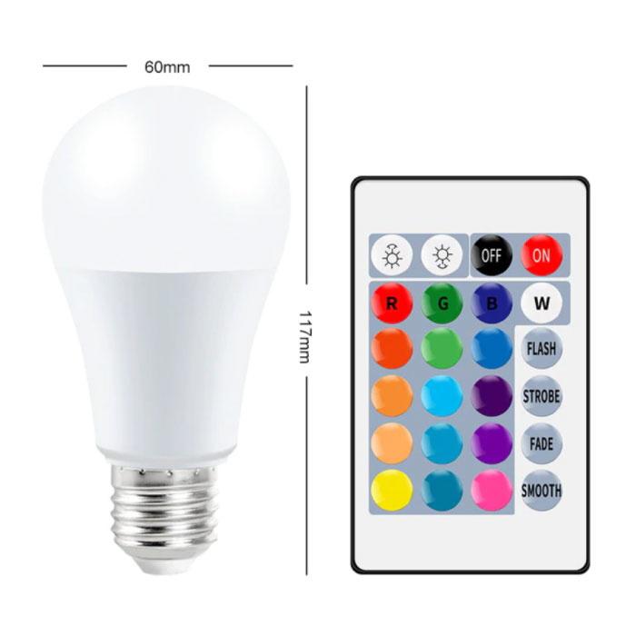 Ampoule LED 10W - Eclairage RVB avec Télécommande IR E27 220V Réglage des Couleurs