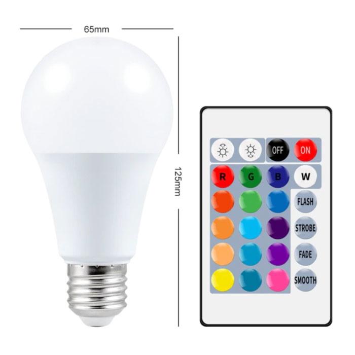 Ampoule LED 15W (Chaud) - Eclairage RVB avec Télécommande IR E27 220V Réglage des Couleurs