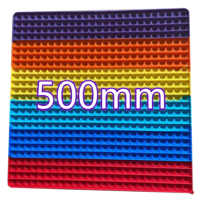 XXXL Pop It 500mm - Extra Extra Groot Fidget Anti Stress Speelgoed Bubble Toy Siliconen Vierkant Regenboog