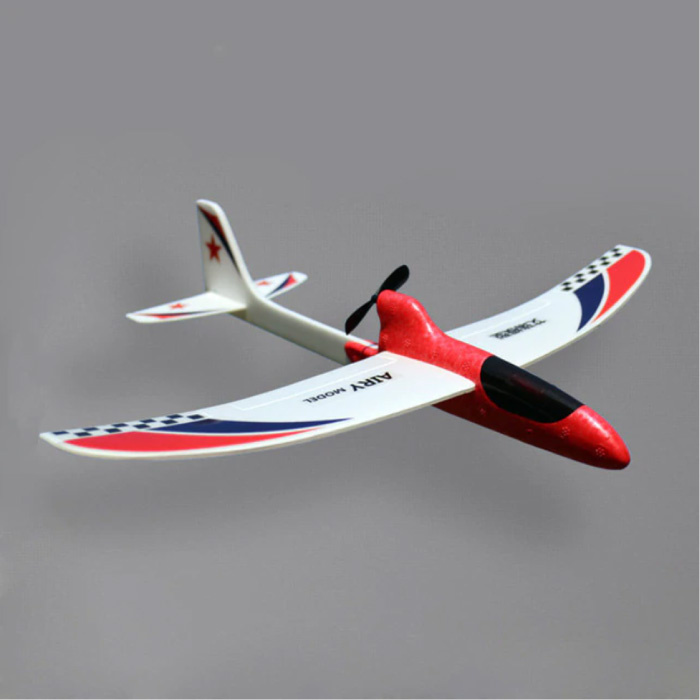 RC Airplane Glider - DIY Toy Pliable Red