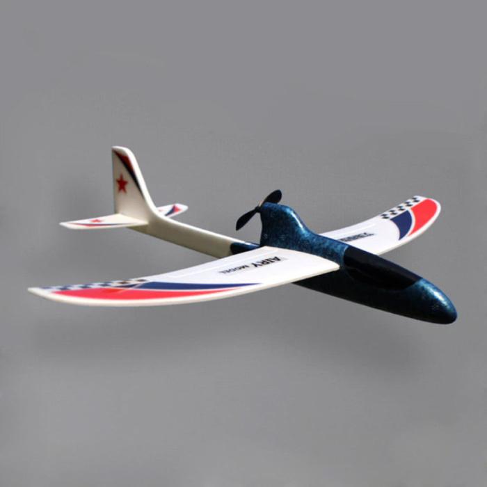 Planeur d'avion RC - Jouet de bricolage pliable noir
