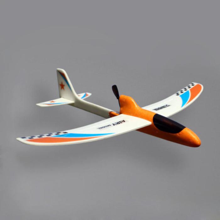 Planeur Avion RC - Jouet DIY Pliable Orange