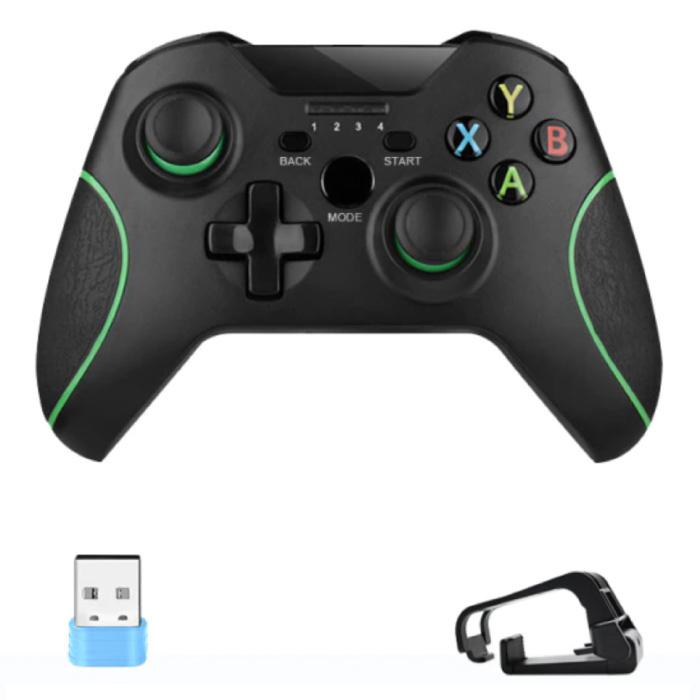 Contrôleur de jeu pour Android/iOS/PC/PS3 avec clip et clé USB 2.4G - Bluetooth Gamepad Mobile Phone Noir