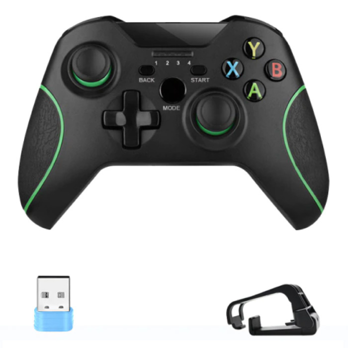 Gaming Controller for Android/iOS/PC/PS3 with Clip and USB 2.4G Stick - Bluetooth Gamepad Mobile Phone Black