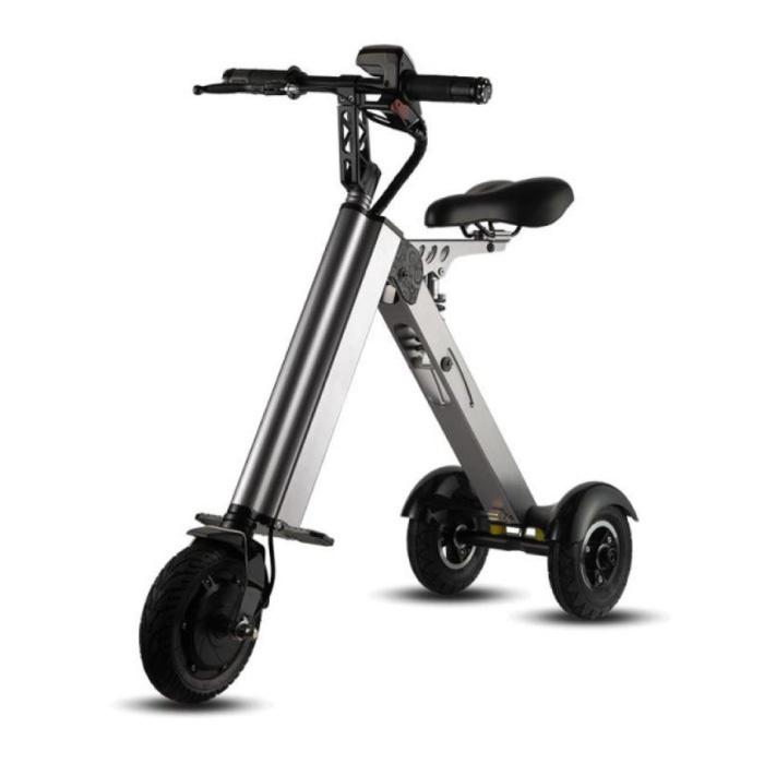 Ultralichte Elektrische Vouwbare Smart e Scooter 250W - 8 inch - 3 wielen - Zwart