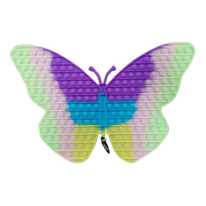 Luminous XXXL Pop It 450mm - Glow in the Dark Extra Extra Large Fidget Anti Stress Toy Bubble Toy Silicone Butterfly Rainbow