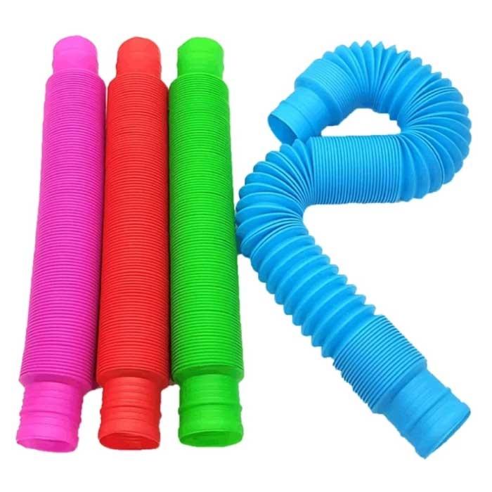 20-Pack Pop It Tube Noodle String - Stretchy Fidget Anti Stress Toys Bubble Toy Silicone Noodles Couleur aléatoire