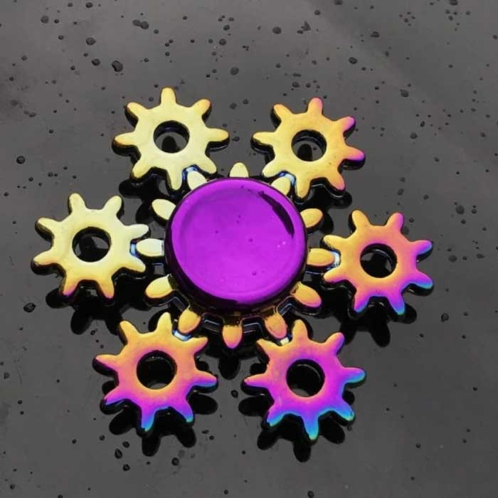 Fidget Spinner - Jouet anti-stress à main Spinner Toy R118 Metal Chroma