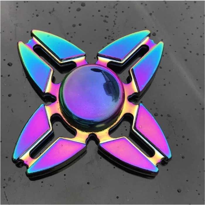 Fidget Spinner - Anti Stress Hand Spinner Toy Toy R118 Metal Chroma