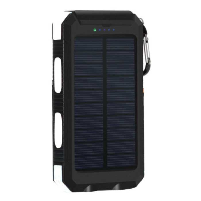 Solar Charger 20.000mAh with Flashlight - External Power Bank Solar Panel Emergency Battery Battery Charger Sun White