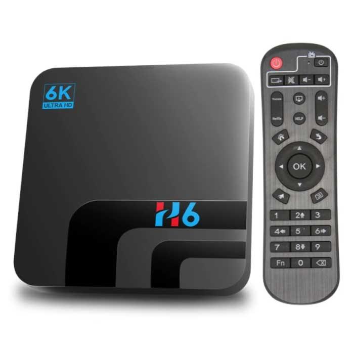 H6 TV Box Mediaspeler 6K Android Kodi - 4GB RAM - 64GB Opslagruimte