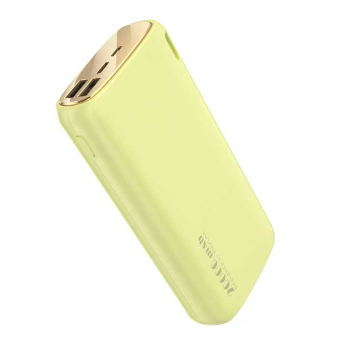 18W Power Bank 20.000mAh - PD/QC3.0 with 3 USB Ports - External Emergency Battery Charger Charger Yellow