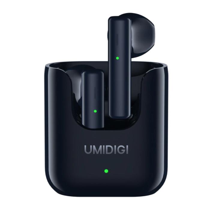 Airbuds U Draadloze Oortjes met 380mAh Oplaaddoosje - ENC Ruisonderdrukking Touch Control Oordopjes TWS Bluetooth 5.1 Earphones Earbuds Oortelefoon Zwart
