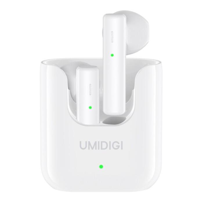Écouteurs sans fil Airbuds U avec étui de chargement 380mAh - Écouteurs à contrôle tactile à réduction de bruit ENC Écouteurs TWS Bluetooth 5.1 Écouteurs Écouteurs Blanc