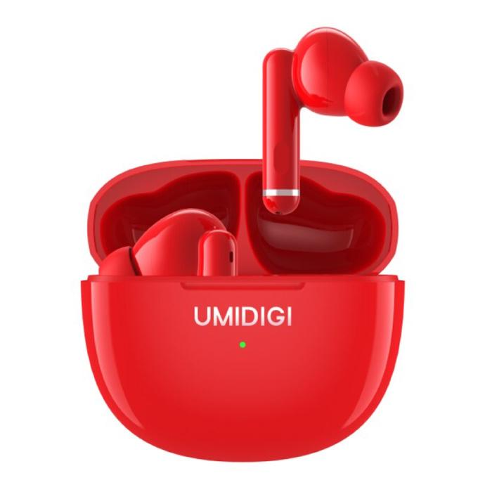 Écouteurs sans fil Airbuds Pro - Écouteurs à contrôle tactile antibruit ANC Écouteurs TWS Bluetooth 5.1 Écouteurs Écouteurs Rouge