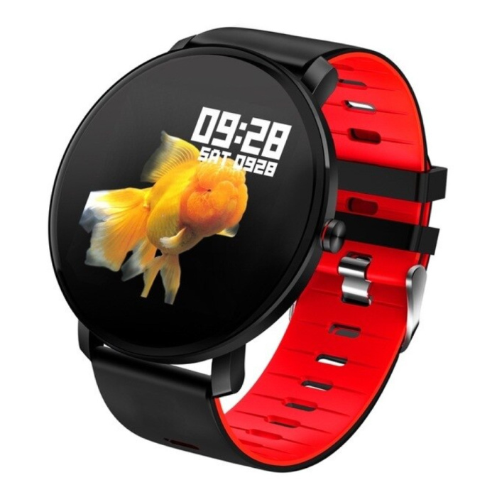 Sport Smartwatch IP68 - Fitness Sport Activity Tracker Montre Bracelet Silicone iOS Android Rouge