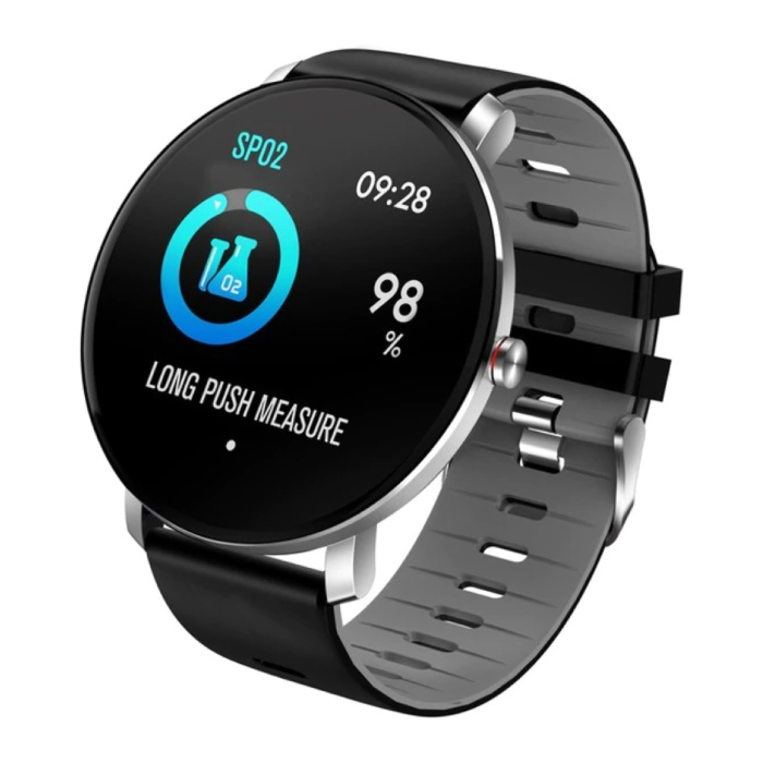 Sport Smartwatch IP68 - Fitness Sport Activity Tracker Silicone Strap Watch iOS Android Gray