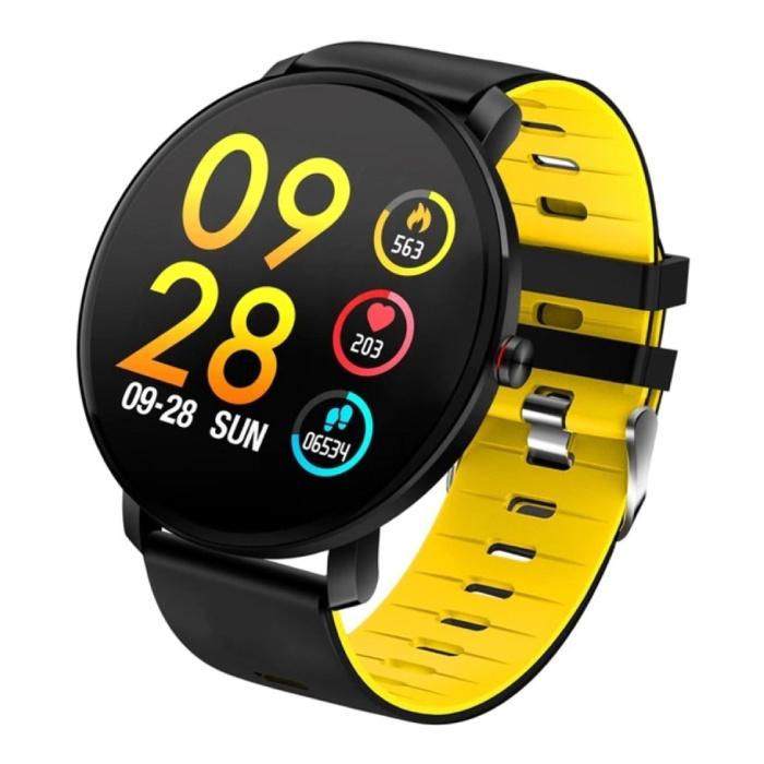 Sport Smartwatch IP68 - Fitness Sport Activity Tracker Montre Bracelet Silicone iOS Android Jaune