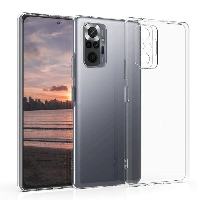 Xiaomi Redmi Note 10S Transparent Case - Clear Case Cover Silicone TPU