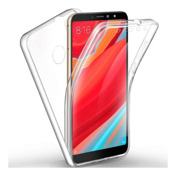 Xiaomi Mi A2 Full Body 360° Case - Full Protection Transparent TPU Silicone Case + PET Screen Protector