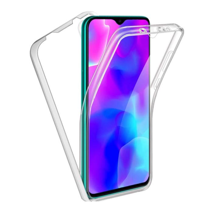 Coque Xiaomi Mi A3 Lite Full Body 360° - Coque Silicone TPU Transparente Protection Complète + Protecteur d'écran PET
