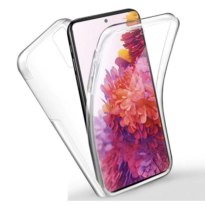 Xiaomi Redmi Note 10 Full Body 360° Case - Full Protection Transparent TPU Silicone Case + PET Screen Protector