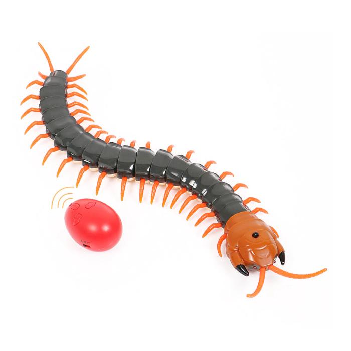 RC Centipede avec télécommande - Centipede Toy Controlable Robot Animal Noir