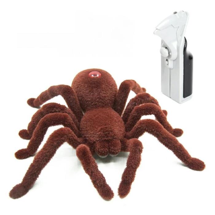 RC Tarentula Spider avec Télécommande - Jouet Robot Contrôlable Animal Marron