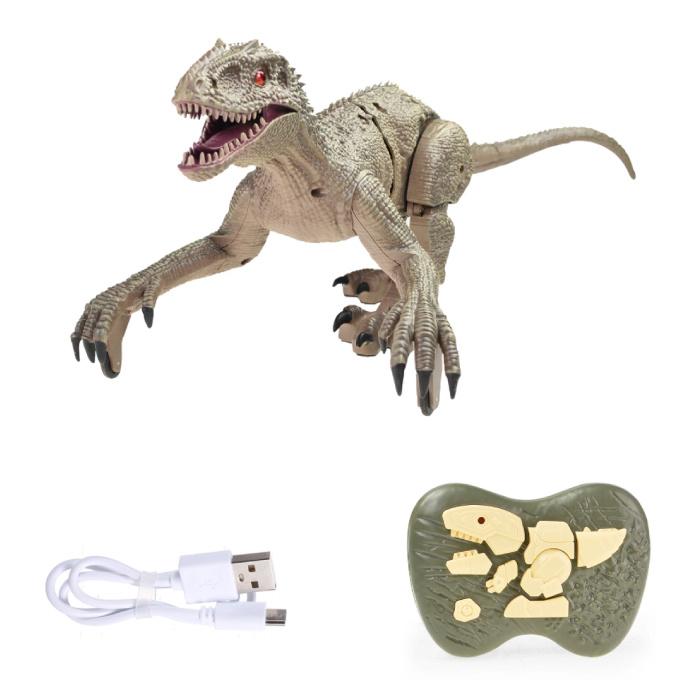 Dinosaure vélociraptor RC avec télécommande - Robot contrôlable par jouet
