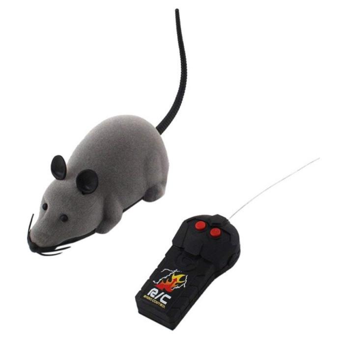 Souris RC contrôlable avec télécommande - Jouet Rat Robot Gris