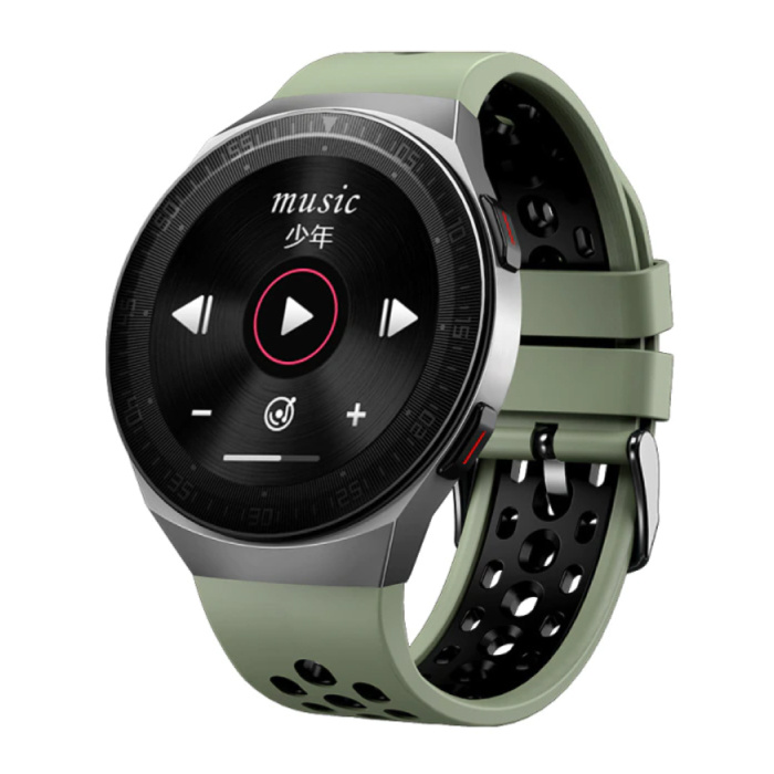 Montre intelligente MT-3 avec haut-parleur et moniteur de fréquence cardiaque - Montre de suivi d'activité sportive et bracelet en gel de silice iOS Android Vert