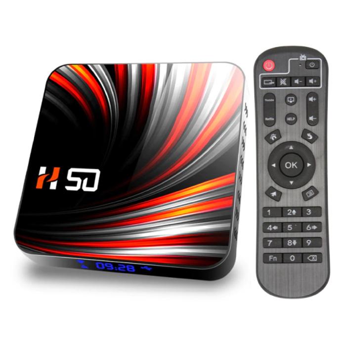 H50 TV Box Mediaspeler Android 10 - 4K - Kodi - 4GB RAM - 64GB Opslagruimte